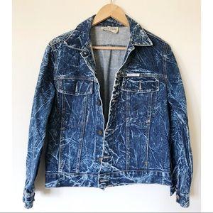 VTG JOAN D'ARC acid wash denim jacket